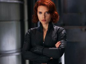 "Scarlett Johansson in ""The Avengers"""