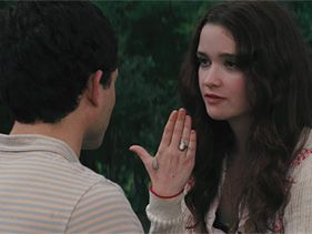 "Alden Ehrenreich and Alice Englert in ""Beautiful Creatures"""