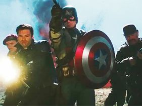 "Chris Evans and cast in the ""Captain America: The First Avenger"" trailer"