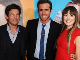 Jason Bateman, Ryan Reynolds and Olivia Wilde at the &quot;Change-Up&quot; premiere