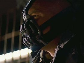 "Tom Hardy as Bane in ""Dark Knight Rises"""