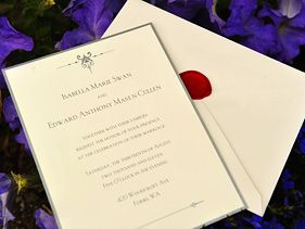 """Breaking Dawn"" wedding invitation"