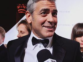 George Clooney on the NBR red carpet