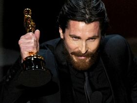 Christian Bale wins the Oscar for Best Supporting Actor