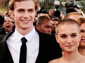 Hayden Christensen and Natalie Portman on May 15, 2005