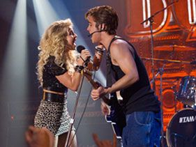 Julianne Hough as Sherrie Christian and Diego Boneta as Drew Boley in 'Rock of Ages'
