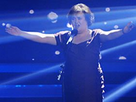 Susan Boyle performs during &quot;Das Supertalent&quot; on December 12, 2009 in Cologne, Germany