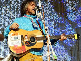 The Flaming Lips' Wayne Coyne performs at the 2012 Hangout Music Festival