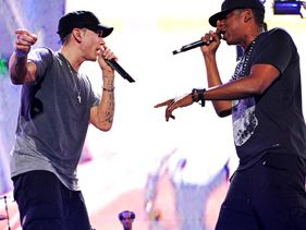 Eminem and Jay-Z perform in Detroit on Thursday