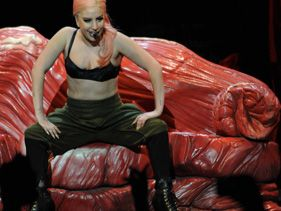 Lady Gaga performs at Staples Center Sunday night