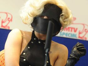 Lady Gaga at her press conference in Malta on Wednesday