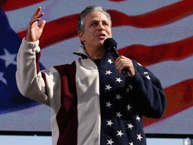 "Jon Stewart at the ""Rally to Restore Sanity And/Or Fear"""