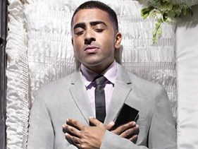 Jay Sean?s coffin image symbolizing his digital death as part of the BUY LIFE fundraising effort