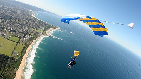 DNSW #MTVTrippers Skydiving at Wollongong