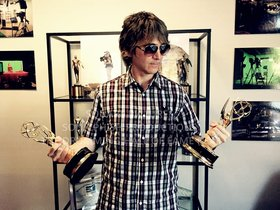Lifting weights with Brad White's Emmys lol