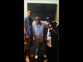 Dj Jay Bee, Dj Gates, and Yung Menace in a group photo at the Fleet DJs Music Conference