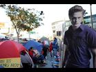 "Fans camp at Nokia Theatre in Los Angeles for the premiere of ""The Twilight Saga: Breaking Dawn - Part 1"""