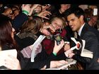 "Taylor Lautner poses with fans at the U.K. premiere of ""Breaking Dawn - Part 1"""