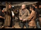 Director Francis Lawrence chats with Jennifer Lawrence and co-star Liam Hemsworth