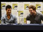 "Lautner and Pattinson attend the ""Breaking Dawn"" panel"