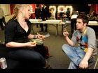 Crystal Bowersox and Lee DeWyze backstage on February 25