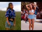 "Ariana sports shorts similar to what Mariah wears in the ""Dreamlover"" video."